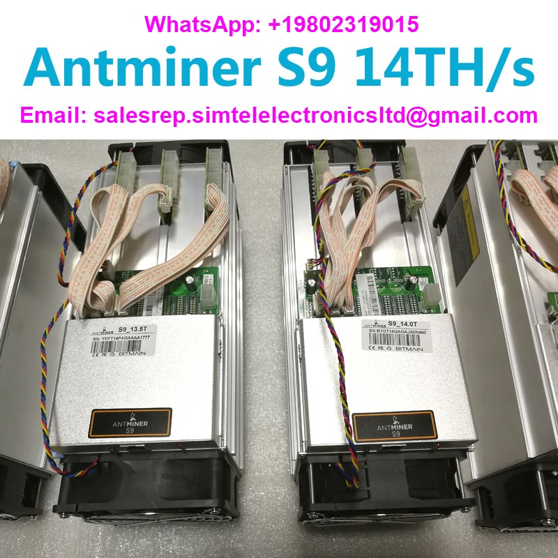 Bitmain Antminer S9 14TH / s with APW3 ++ PSU